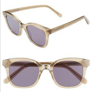 Madewell Venice Flat Sunglasses Glitter acetate
